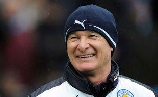 Claudio Ranieri lors du match entre Leicester et Manchester City le 6 février 2016.