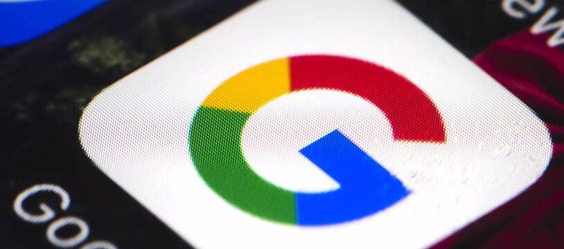Le logo de Google sur un smartphone.