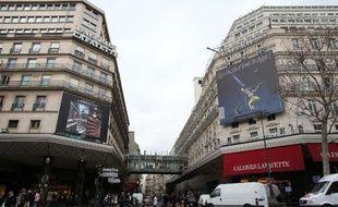 Les Galeries Lafayette à Paris, en février 2013