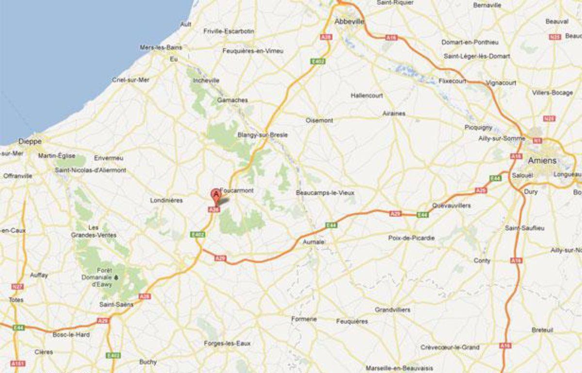Google Maps de l'A28 au niveau de Callengeville (Seine-Maritime). – 20minutes.fr