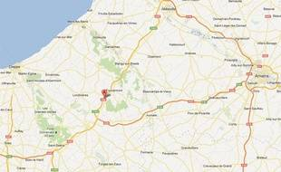 Google Maps de l'A28 au niveau de Callengeville (Seine-Maritime).