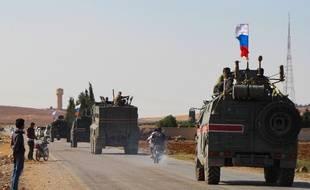 L'armée russe est arrivée à Kobané près de la frontière entre la Syrie et la Turquie, le 23 octobre 2019.
