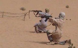 Photo distribuée par Aqmi d'un camp d'entraînement au Mali, en novembre 2010.
