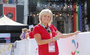 Nathalie, bénévole au Village Gay Games à Paris. Le 8 août 2018