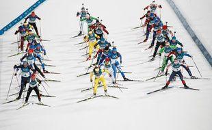 La mass start féminine est partie à Pyeongchang
