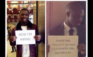 Le jeune diplômé est retourner à la gare de Waterloo pour recruter, l^où il avait décroché un job l'année dernière.