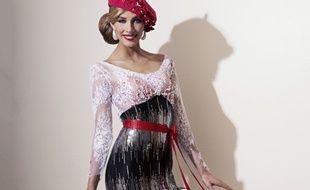 La robe en dentelle de Calais de Camille Cerf.