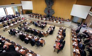 L'assemblée départementale d'Ille-et-Vilaine, ici le 2 avril 2015.
