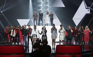 Les coachs et une partie des candidats de la saison 6 de «The Voice».