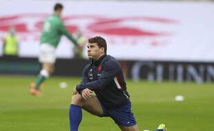 Antoine Dupont avant le match Irlande-France comptant pour le Tournoi des VI Nations. .