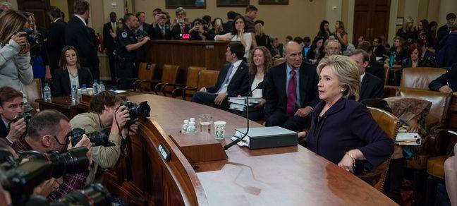 Hillary Clinton a témoigné le 22 octobre 2016 comité sur Benghazi de la Chambre des Représentants, à Washington.