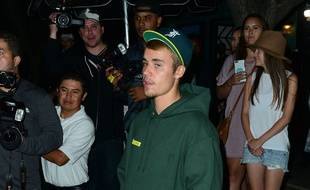 Le chanteur Justin Bieber à Los Angeles.