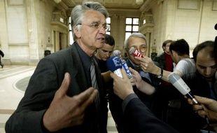 Aimé Jacquet, le 25 avril 2003 à Paris.