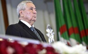 Abdelkader Bensalah au Palais des Nations à Alger, le 9 avril 2018.