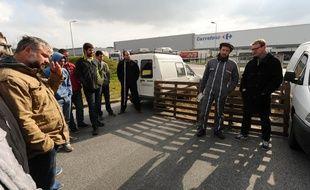 Blocage d'une plate-formes de la grande distribution à Labenne, dans les Landes.