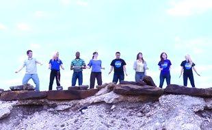 Capture d'écran vidéo Youtube des stagiaires de la Nasa.