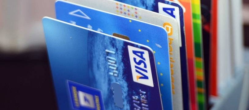 Des cartes bancaires. Illustration.