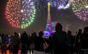 Feu d'artifice à Paris, le 14 juillet 2019.