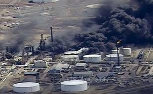 Des explosions et un incendie dans une raffinerie du Wisconsin ont fait au moins 11 blessés, le 26 avril 2018.