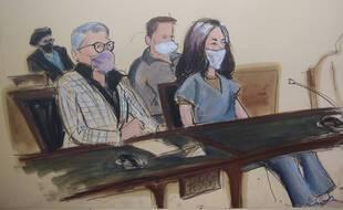Ghislaine Maxwell au tribunal de Manhattan le 23 avril 2021.
