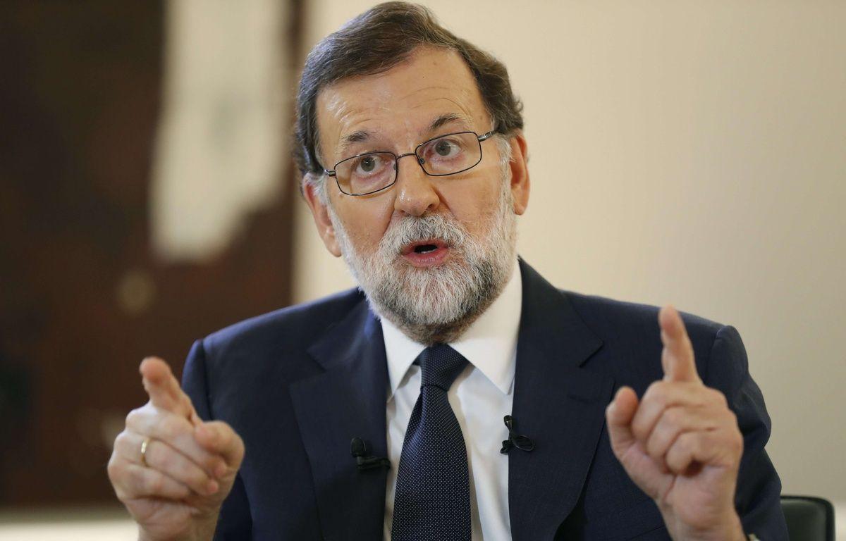 Le chef de gouvernement espagnol Mariano Rajoy s'est exprimé pour la première fois dans un grand quotidien sur la crise catalane, le 8 octobre 2017.  – Angel Diaz/EFE/SIPA