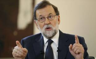 Le chef de gouvernement espagnol Mariano Rajoy s'est exprimé pour la première fois dans un grand quotidien sur la crise catalane, le 8 octobre 2017.