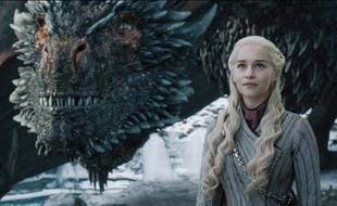 L'actrice Emilia Clarke jouant Daenerys dans la série «Game Of Thrones». HBO