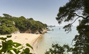La plage de Porcé, à Saint-Nazaire.