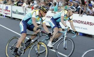 Lance Armstrong retrouve les pelotons en Australie le 18 janvier 2009.