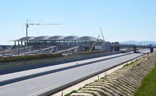 L'autoroute A9 à Montpellier.