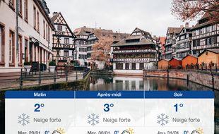 Météo Strasbourg: Prévisions du lundi 28 janvier 2019