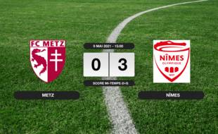 Metz - Nîmes: Nîmes vainqueur de Metz 3 à 0 au stade Saint-Symphorien