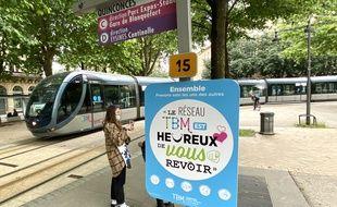 Réseau de tramway à Bordeaux, au moment du déconfinement