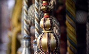 Dans la boutique du dernier artisan passementier de Paris, Yves Dorget, le 7 mars 2014