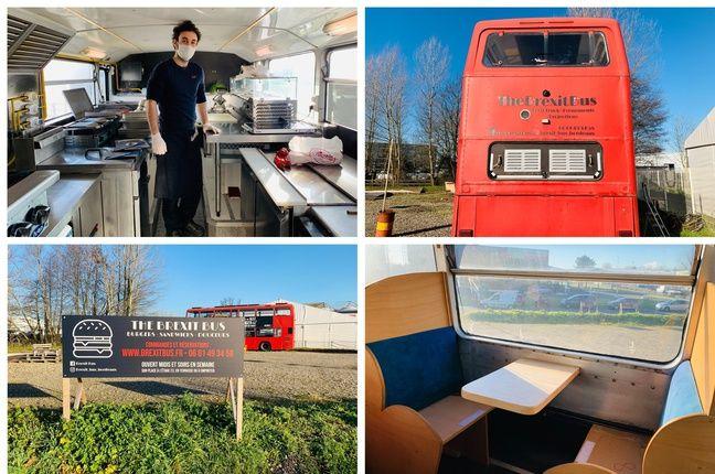 Le Brexit bus de Thibaut Frankel est installé au Haillan près de Bordeaux.