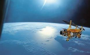 Le satellite UARS en orbite.