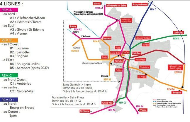 Le projet de RER à la Lyonnaise, défendu par l'UDI.