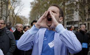 Paris le 12 novembre 2012. Manifestation des étudiants en médecine denonçant leurs mauvaises conditions de travail.