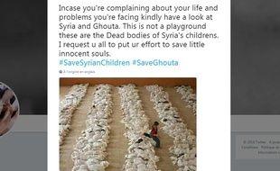 Cette photo n'a pas été prise en Syrie, mais en Irak en 2003.