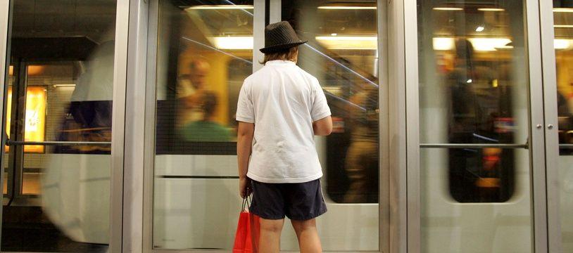 Le 26 août 20009, dans le métro sur le trajet de la Ligne B.