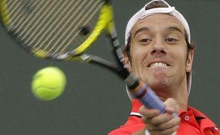 Richard Gasquet, lors de son match face à Andy Roddick à Indian Wells, le 17 mars 2011