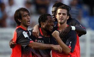 Les Lyonnais lors de leur victoire 3-0 à Auxerre le 22 août 2009.