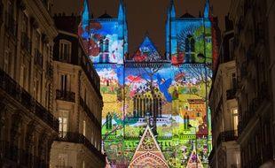 Le spectacle son et lumière sur la cathédrale de Nantes, en 2016