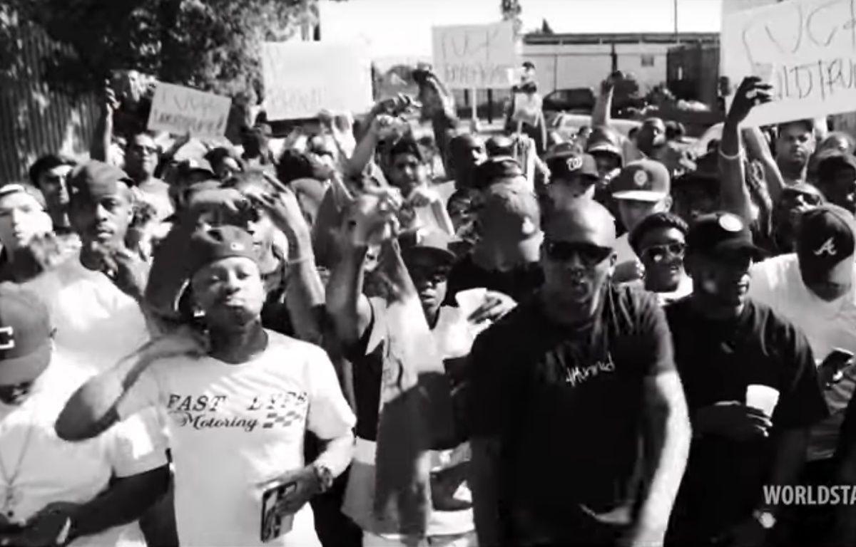 Capture d'écran du clip des rappeurs YG et Nipsey Hussle « Fuck Donald Trump ». – Capture d'écran/Youtube