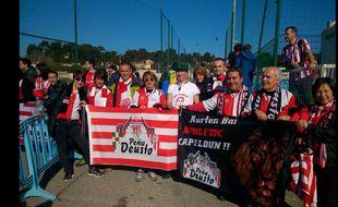 Les supporters de l'Athletic Bilbao à la Commanderie à Marseille, le 18 février 2015.