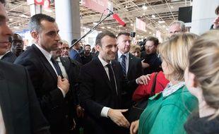 Emmanuel Macron au salon de l'agriculture le 23 février 2019.