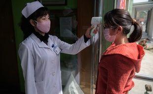 Dans une hôpital de Pyongyang le 1er avril.