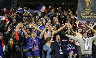 Les supporters des Bleus lors d'Islande-France en qualifications pour l'Euro 2020.