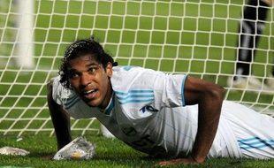 L'attaquant brésilien de l'OM, Brandao, le 31 octobre 2009, lors d'un match contre Toulouse.