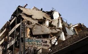 Un immeuble détruit à Alep, le 6 novembre 2013, en Syrie